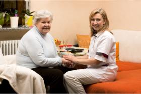 Medical director accompanying a senior