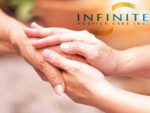 hands of senior and caregiver